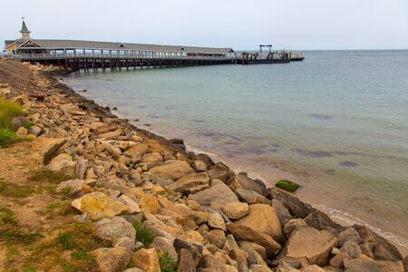 Pier at Oak Bluffs, Martha's Vineyard, Massachusetts, USA