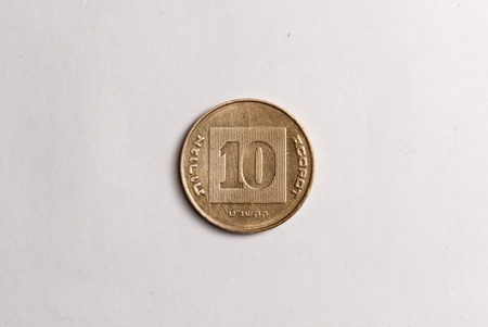 10 agorot coin  Front side photo