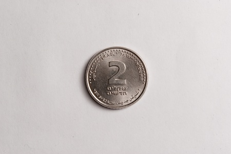 2 sheqalim coin  Front side photo