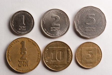The Israeli coins  Light from up-right photo