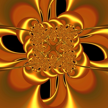 Creative fractal design element suitable for business and birthday cards, art projects, banners or brochures. Stock Photo