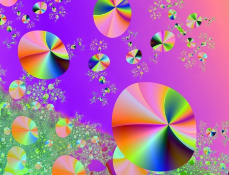 Background of multicoloured bubbles, suitable for business and birthday cards, art projects, banners or brochures.