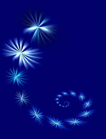 Background of stars, Suitable for a Christmas, New Years or Winter theme Stock Photo