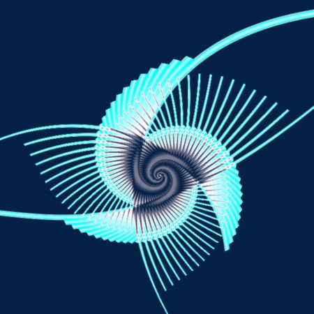 Abstract spiral illustration
