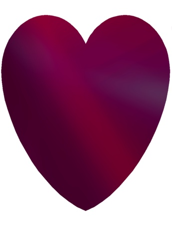 Beautiful red and burgundy heart isolated on white  Suitable for St  Valentine s Day cards, a Spring or Summer theme, or for birthday cards and other romantic celebrations