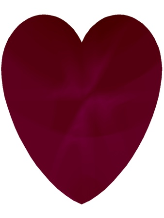 Beautiful red heart isolated on white  Suitable for St  Valentine s Day cards, a Spring or Summer theme, or for birthday cards and other romantic celebrations