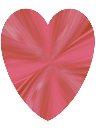 Beautiful peach pink heart isolated on white  Suitable for St  Valentine s Day cards, a Spring or Summer theme, or for birthday cards and other romantic celebrations