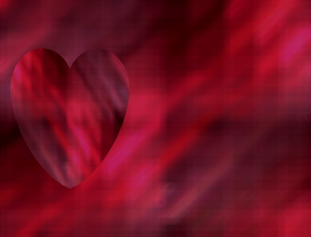 Beautiful red heart overlaid on a contrasting background  Suitable for St  Valentine s Day cards, a Spring or Summer theme, or for birthday cards and other romantic celebrations  Stock Photo - 16601474