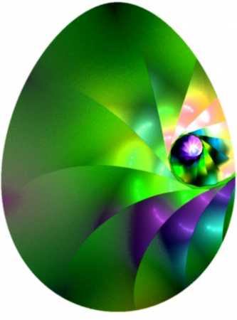 Beautiful decorated Easter Egg isolated on white  Suitable for an Easter or Spring theme or for business and birthday cards, art projects, banners and brochures  Stock Photo