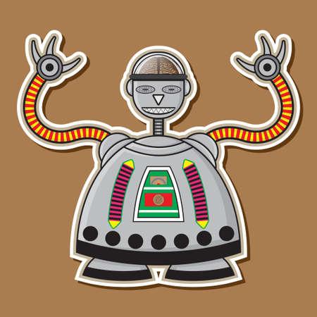 cute robot: Steel Cute Robot Machine Toys Design