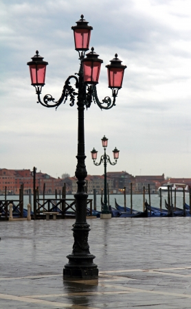 embankment near the Piazza San Marco on a rainy day photo