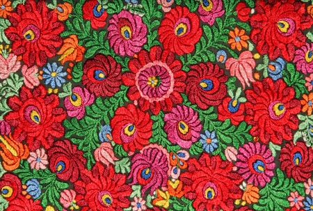 multicolor floral hand embroidery pattern photo