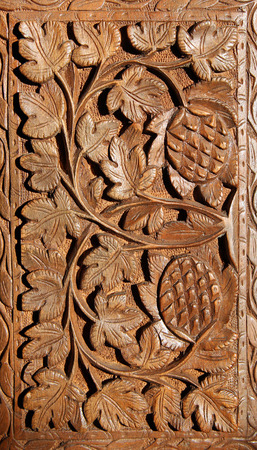 wooden hand carved pattern photo