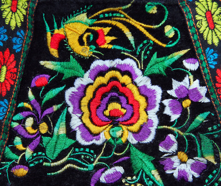 multicolor ethnic handmade embroidery pattern