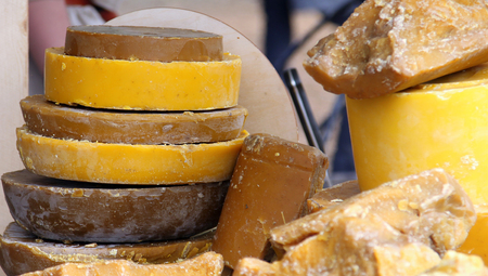 Large pieces of beeswax