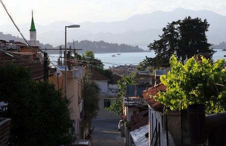 oludeniz: Streets of Fethiye city, Turkey Stock Photo