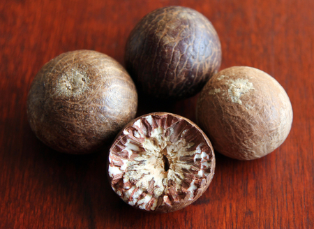 ripe fruit of the betel tree (Areca catechu or areca nut palm)