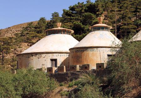 Modern mongolian yurt in Helan mountains, Ningxia province, China