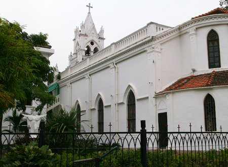 Christ the King Church on Gulangyu Island near the port city of Xiamen on Chinas southeast coast 版權商用圖片