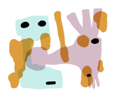Bullying Abstract illustration like woodblock print