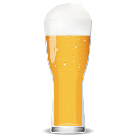 beer glass: Illustration of glass cold beer.