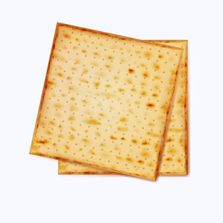 matza: Realistic vector matza for Jewish Passover.