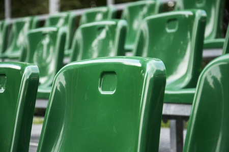 green plastic stadium chairs for fans