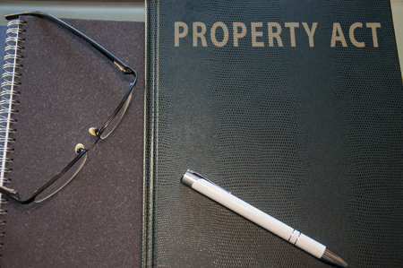 property act kept in green hard cover