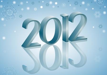 2012 Snowflakes Vector