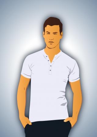 Modello e t-shirt
