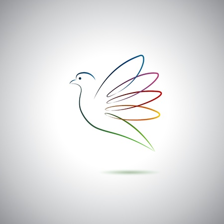 Dove and peace Vector