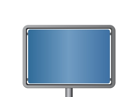 Blue metal signboard Vector