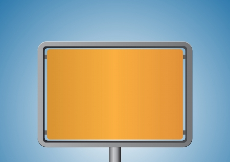 Orange metal signboard Vector
