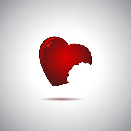Heart and pain Vector