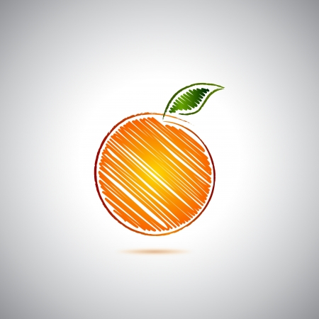 peach tree: Orange logo Illustration