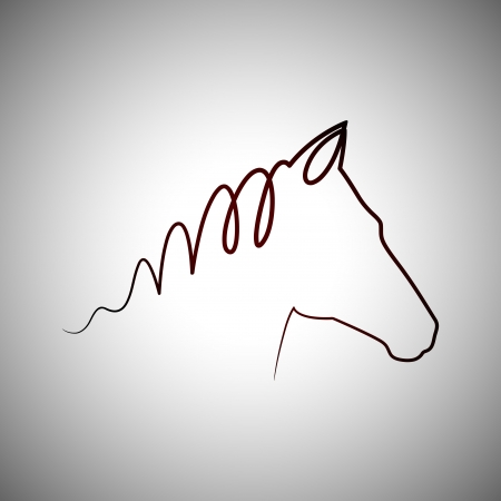 Horse drawing logo Vector