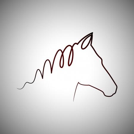 ranch: Horse drawing logo