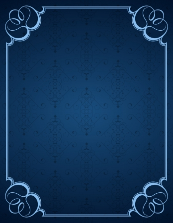 Blue little background and frame
