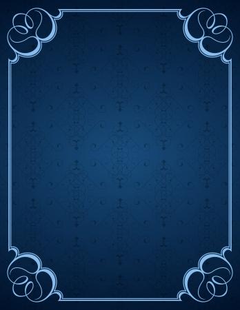 royal blue background: Blue little background and frame