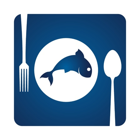 logo poisson: Poissons et servir