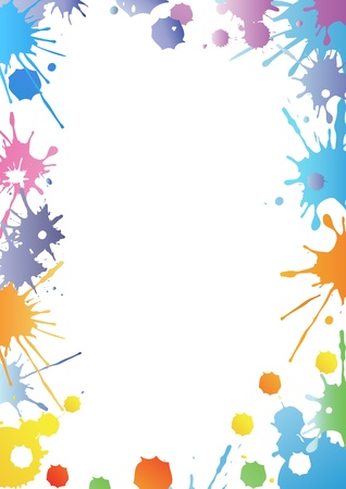 Paint dropped paper