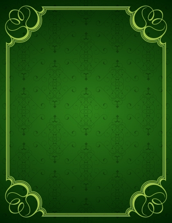 Green little background and frame