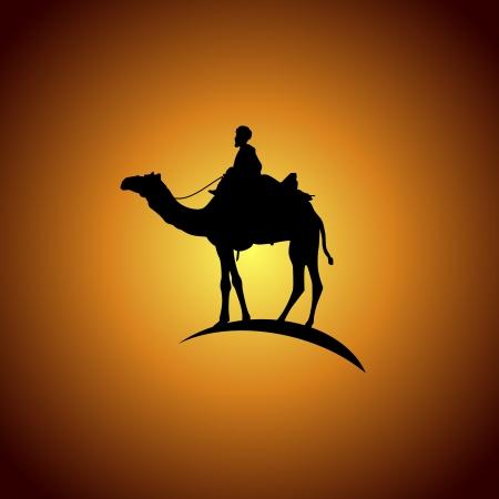 camels: Way Hejaz Illustration