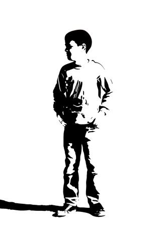 Black child silhouette Stock Vector - 16687041