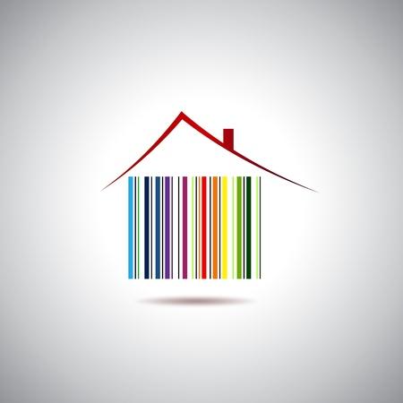 home logo: Huse for sale Illustration
