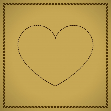 Weave and heart in brown Vector