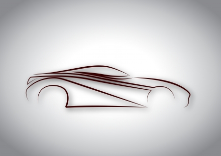 Line auto logo Vector