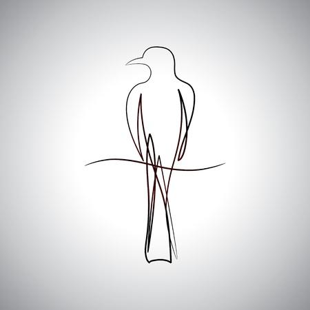 pajaro dibujo: Bird logo dibujo Vectores