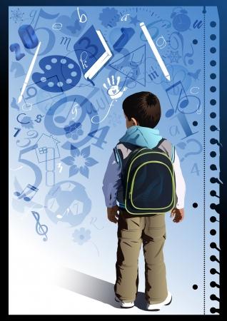 adolescentes estudiando: Poco estudiante en la p�gina de cuaderno