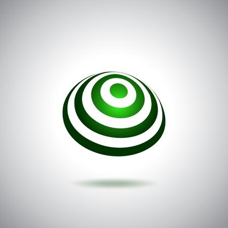 land mark: Logo verde peque�o mundo Vectores